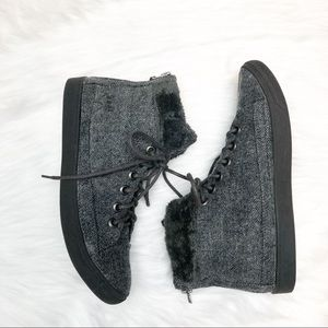 Blowfish Shoes - Blowfish Malibu Flannel Ankle Boots with Faux Fur